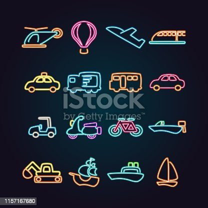 The vector files of vehicle icon set.