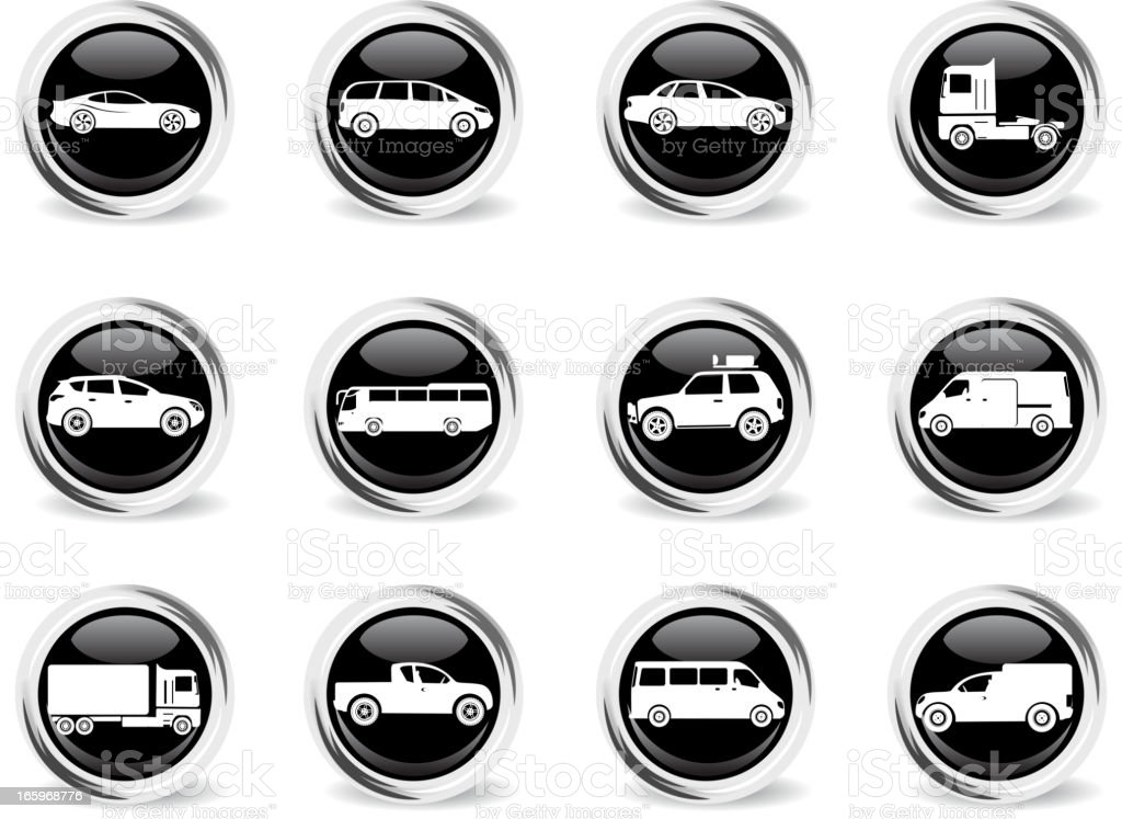 Vehicles Icon Set royalty-free vehicles icon set stock vector art & more images of 4x4