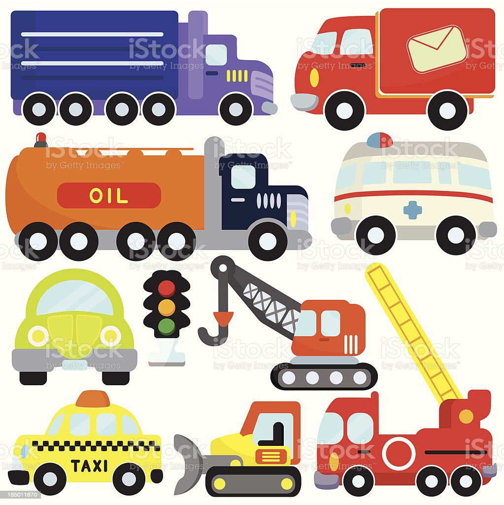 Vehicles, Transportation Set#1 (vector Icons) vector art illustration