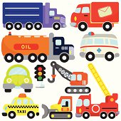 Vehicles, Transportation Set#1 (vector Icons)