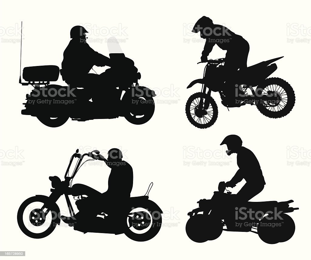 Vehicular Vector Silhouette royalty-free stock vector art