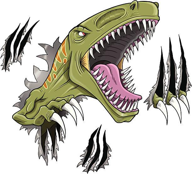 Velociraptor Dinosaur vector art illustration
