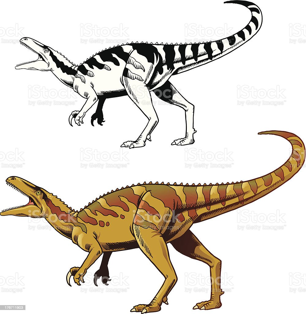 Velociraptor royalty-free stock vector art