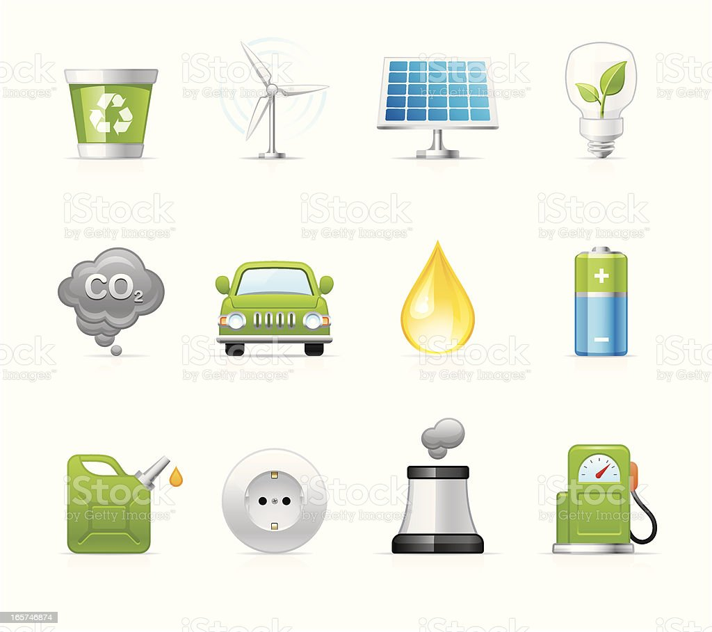 Velvet Icons - Alternative Energy royalty-free velvet icons alternative energy stock vector art & more images of air pollution