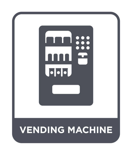 vending machine icon vector on white background, vending machine trendy filled icons from hotel and restaurant collection - empty vending machine stock illustrations