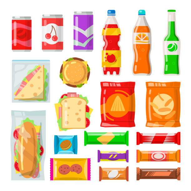 vending machine products - junk food stock illustrations, clip art, cartoons, & icons