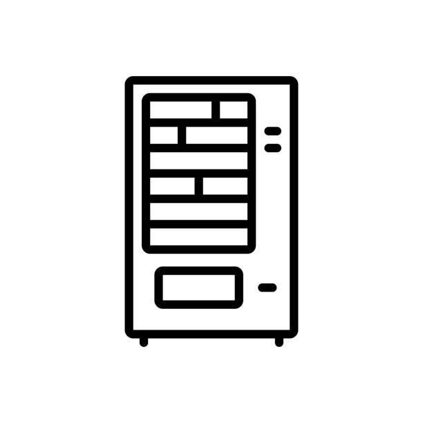 vending machine - empty vending machine stock illustrations