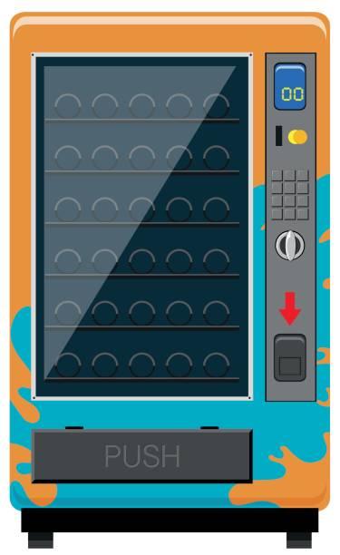 vending machine with no drinks - empty vending machine stock illustrations