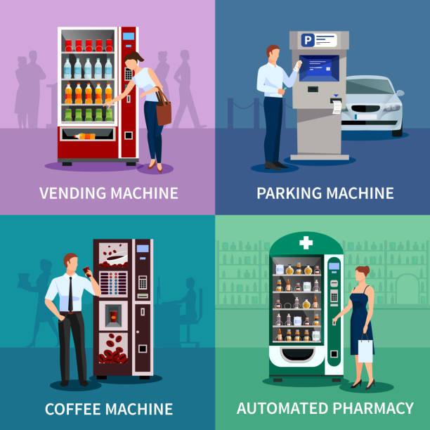 Verkaufsautomaten 2x2 – Vektorgrafik