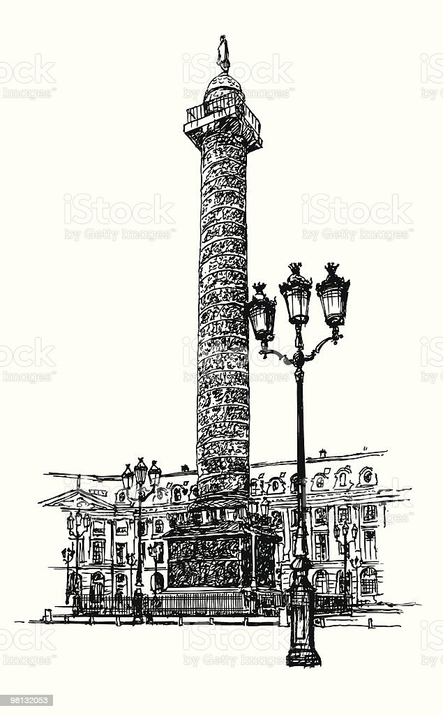 Vendome column in Paris royalty-free vendome column in paris stock vector art & more images of ancient