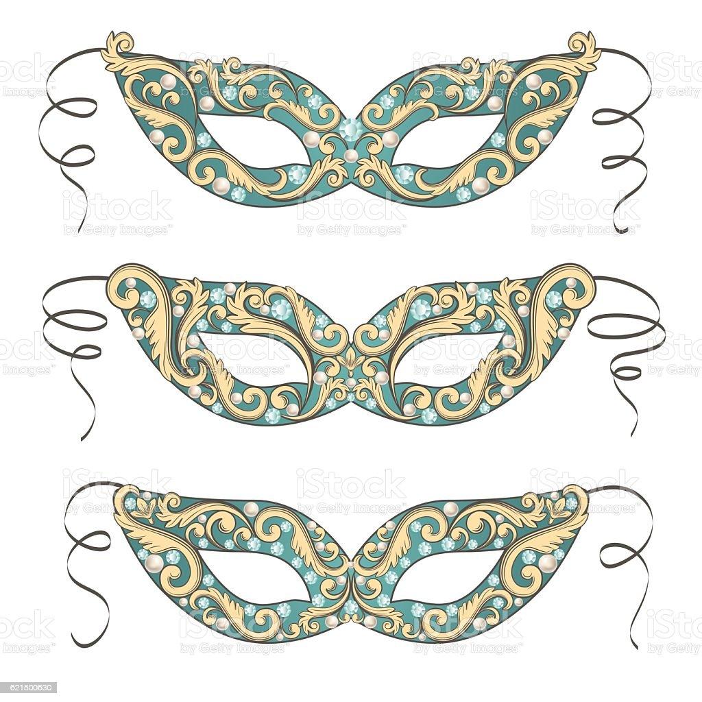 Venetian Carnival mask venetian carnival mask - immagini vettoriali stock e altre immagini di accessorio personale royalty-free
