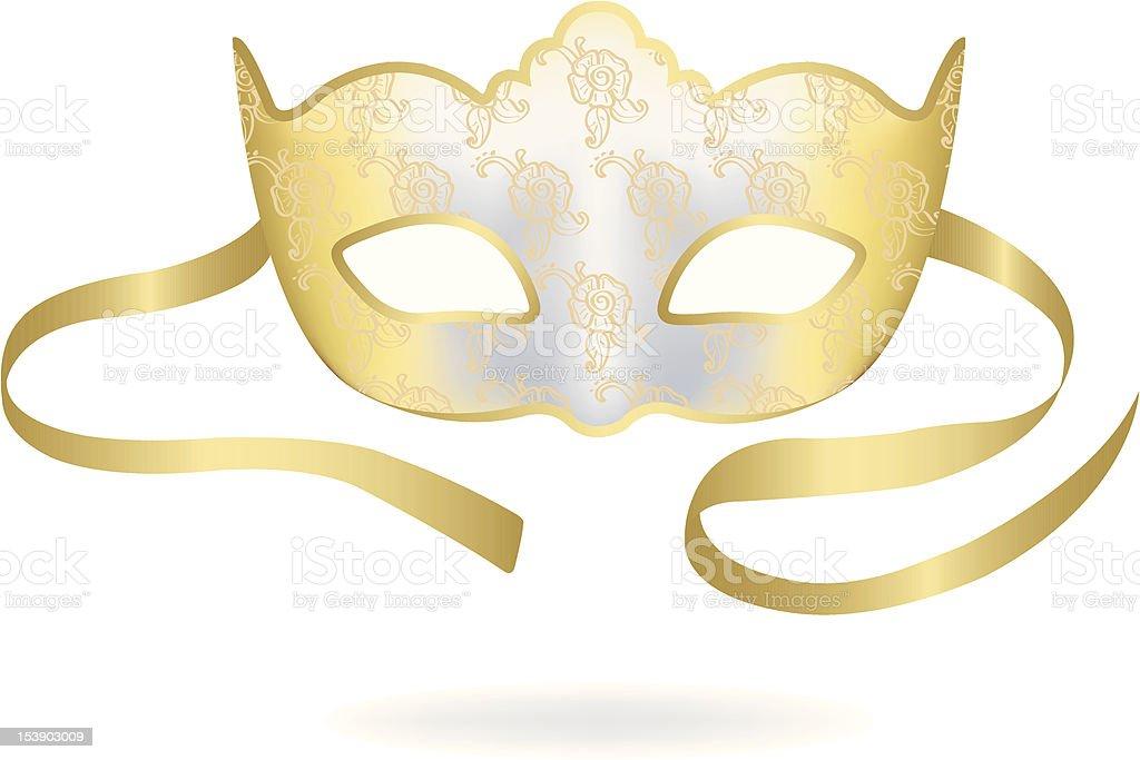 Venetian Carnival mask. Vector illustration. royalty-free stock vector art