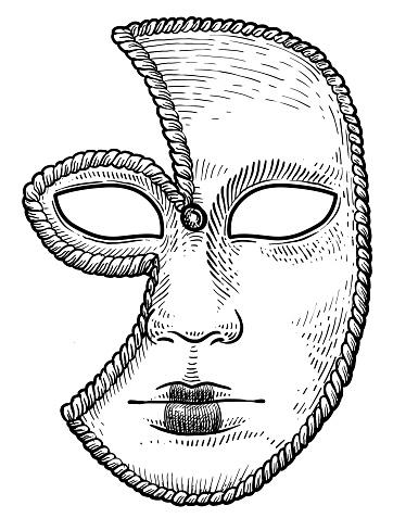Ilustración de Ilustración De La Máscara Veneciana Dibujo