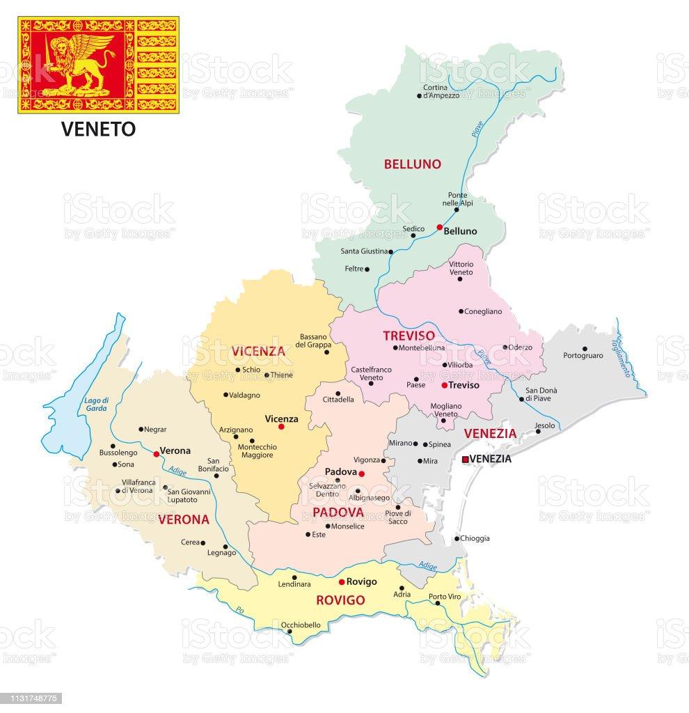 Cartina Fisico Politica Veneto.Veneto Mappa Amministrativa E Politica Con Bandiera Immagini Vettoriali Stock E Altre Immagini Di Bandiera Istock