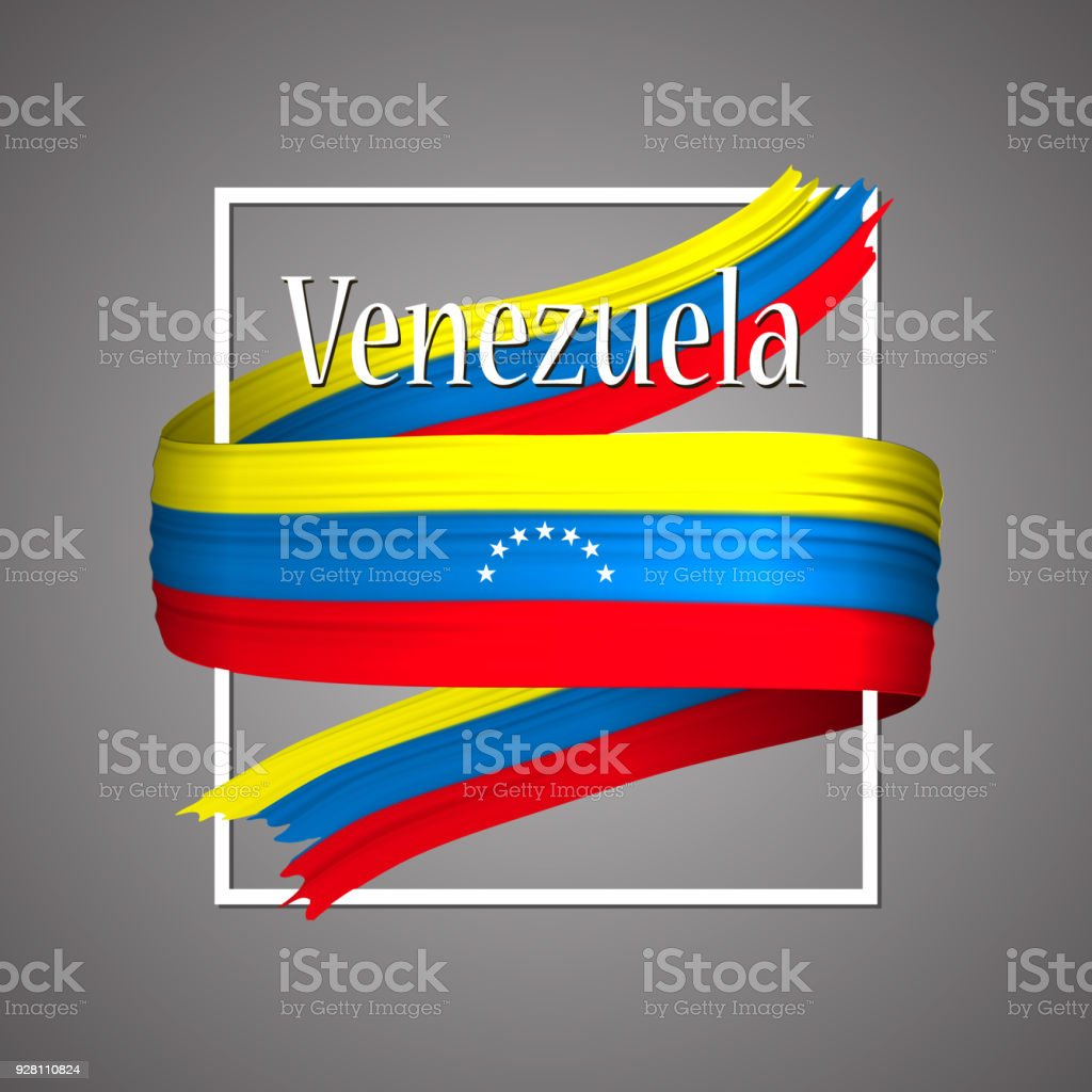Venezuelaflagge Offiziellen Nationalfarben Venezuelas 3d Realistisch ...