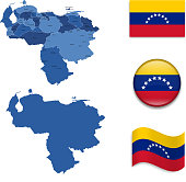 Venezuela Map and Flag Collection