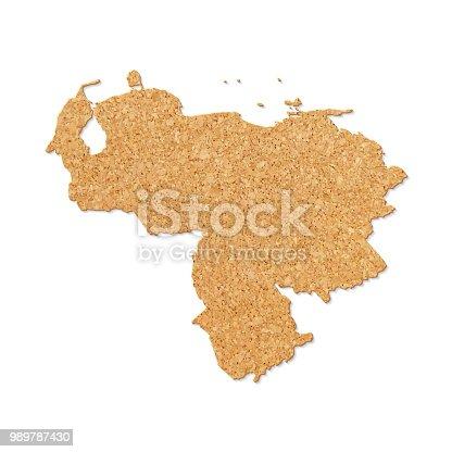 Venezuela Map In Cork Board Texture On White Background Stock Vector ...
