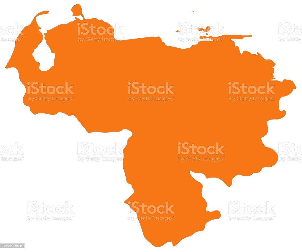 Venezuela Map Stock Vector Art More Images of Caracas 868844626