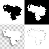 Venezuela maps for design - Blank, white and black backgrounds