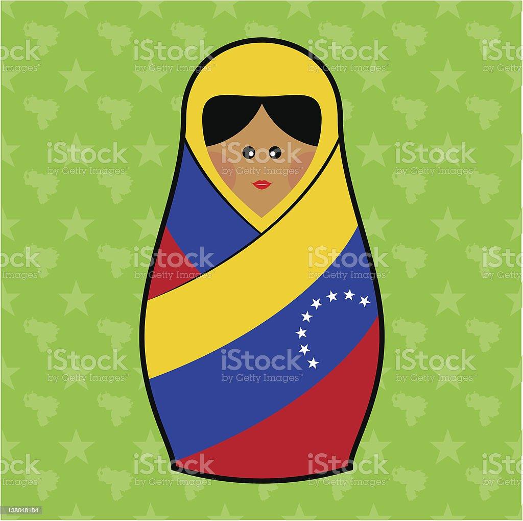 Venezuela - Matryoshka doll royalty-free stock vector art