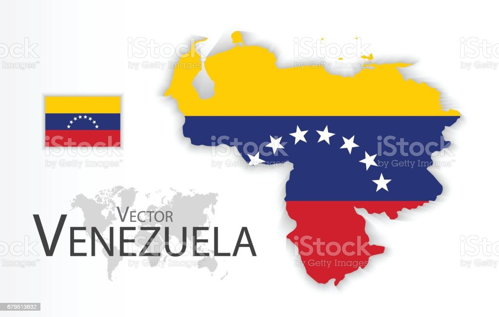 Venezuela ( Bolivarian Republic of Venezuela ) ( flag and map ) ( transportation and tourism concept ) royalty-free venezuela stock vector art & more images of art