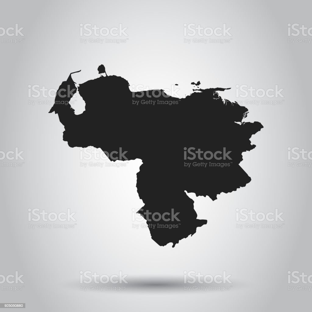 Venezuela vector map black icon on white background stock vector art venezuela vector map black icon on white background royalty free venezuela vector map gumiabroncs Gallery