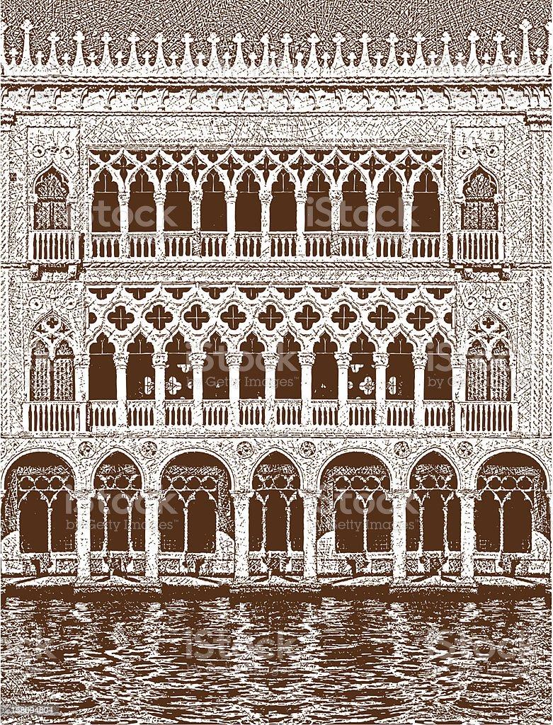 Venice Building Facade royalty-free stock vector art