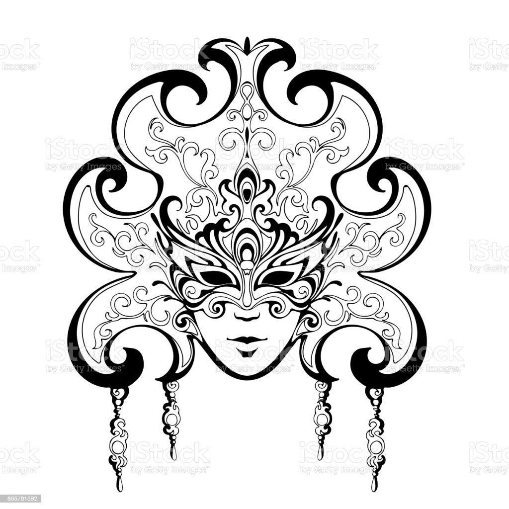 Venetië carnaval maskers - Royalty-free Baby vectorkunst