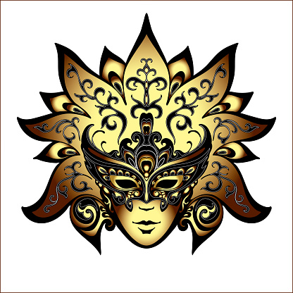 Venetië Carnaval Maskers Stockvectorkunst en meer beelden van Baby