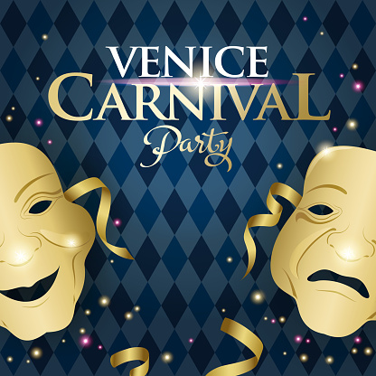 Venice Carnival Theater Mask