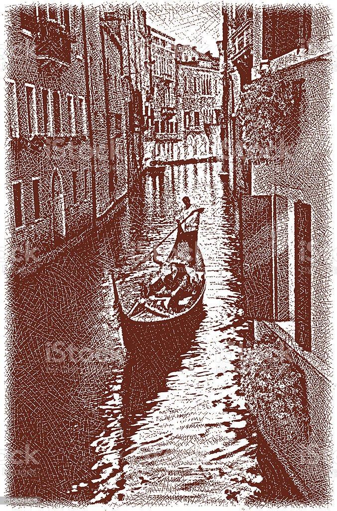 Venice Gondola royalty-free stock vector art