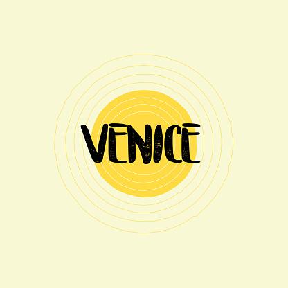 Venice Lettering Design