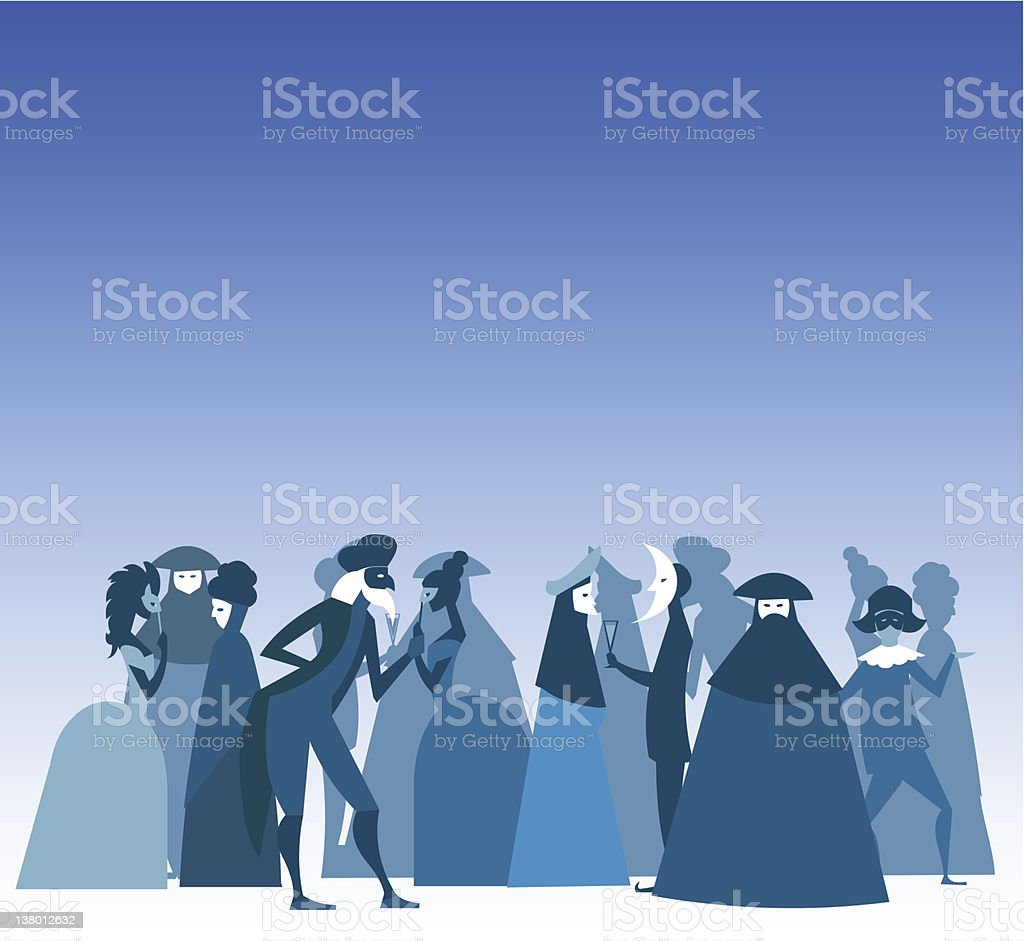 Venice Mask Carnival Party royalty-free stock vector art