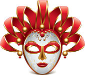 Venice mask isolated on white vector