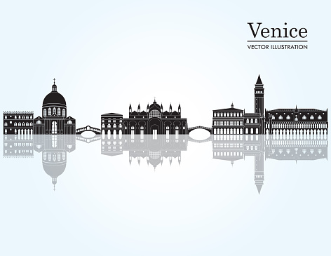 Venice skyline. Vector illustration
