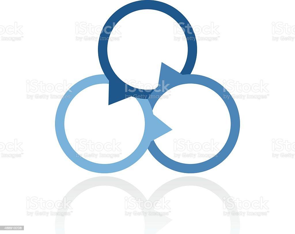 Venn diagram icon on a white background stock vector art more venn diagram icon on a white background royalty free venn diagram icon on a ccuart Choice Image