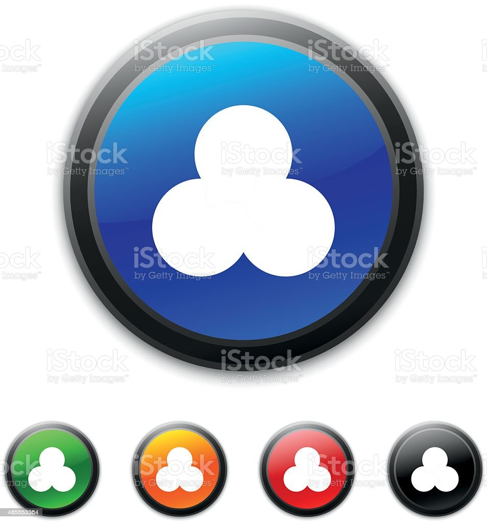 venn diagram icon on round buttons stock vector art more images of rh istockphoto com Golf Flag Vector Golf Ball Vector Illustration