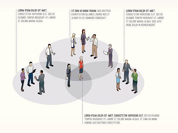 Venn Diagram Template vector art illustration