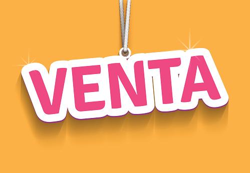 Venta (sale on Spanish)