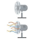 istock Ventilation fan. Electric fan with ribbons 1280859311