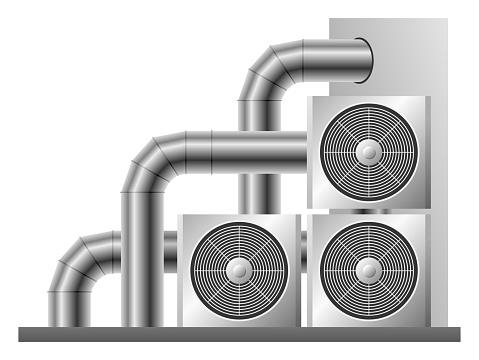 Ventilation system isolated illustration