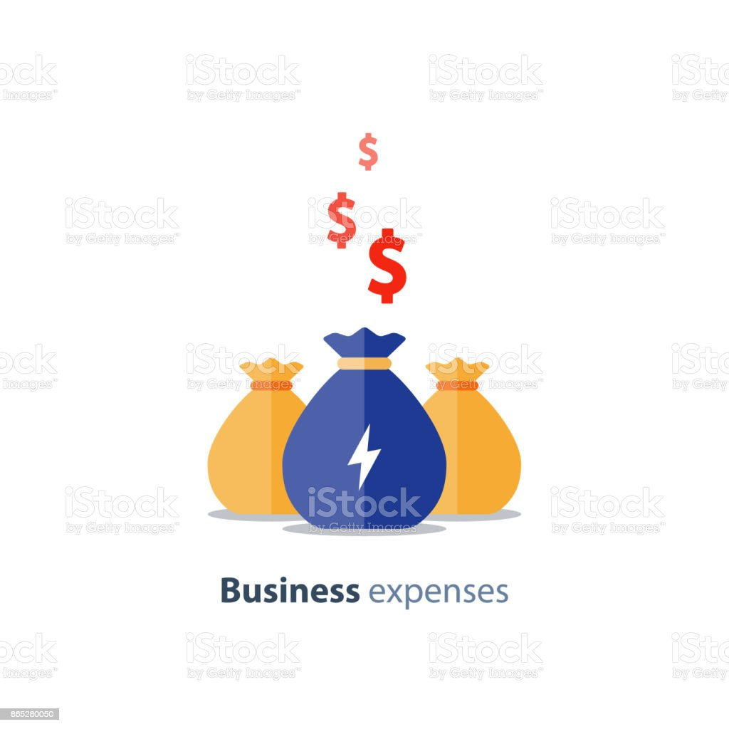 Venture capital, fundraising concept, business loan, company expenses, mutual fund, vector icon vector art illustration
