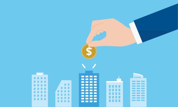 venture-capital-bild, vektor illsutration - investition stock-grafiken, -clipart, -cartoons und -symbole