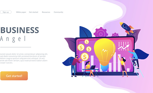 Venture Investment Concept Landing Page Stock Illustration - Download Image  Now