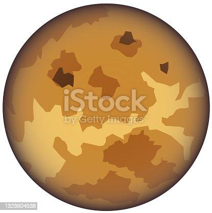 istock Venus planet vector icon 1323604538