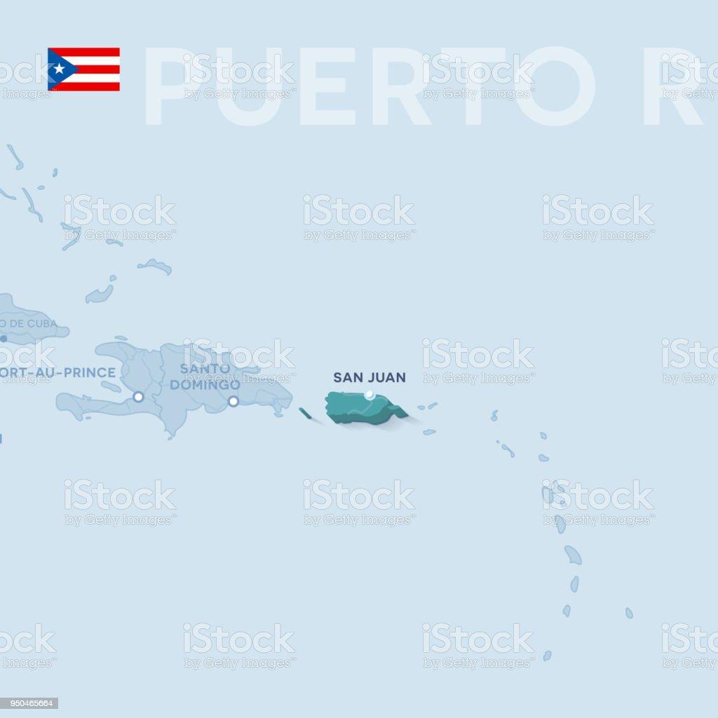 Verctor Map Of Cities And Roads In Puerto Rico Stock Vector Art ...