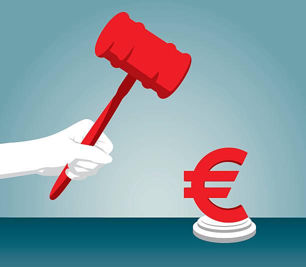 urteil - geldstrafe stock-grafiken, -clipart, -cartoons und -symbole