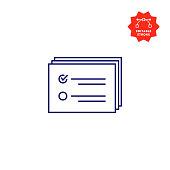 istock Verification Icon with Editable Stroke 1287470985
