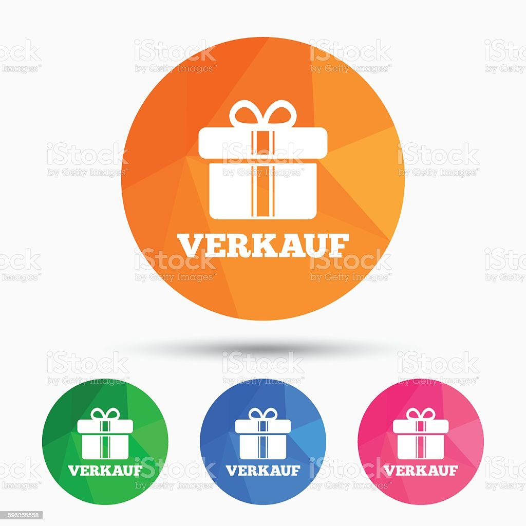 Verkauf - Sale in German sign icon. Gift. royalty-free verkauf sale in german sign icon gift stock vector art & more images of badge