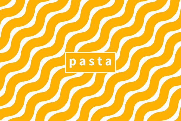 illustrazioni stock, clip art, cartoni animati e icone di tendenza di vermicelli banner, pasta background - pasta